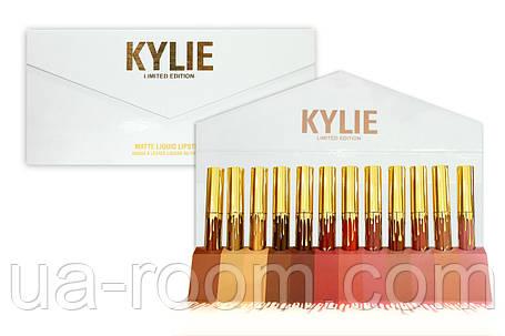Набор жидких матовых помад (12 шт.) Kylie (белый конверт), фото 2