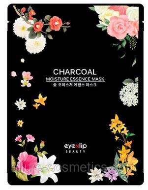 Увлажняющая тканевая маска EYENLIP Moisture Essence Mask - Charcoal