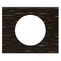 Рамка - Программа Celiane - 1 пост - Corian Чёрный Рифленый