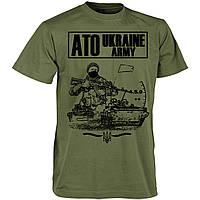 Футболка олива ATO UKRAINE ARMY х/б