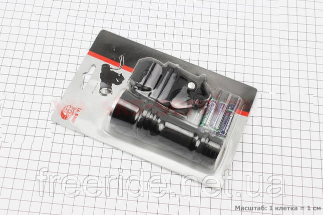 Велосипедный фонарь 1 диод алюминиевый, JY-245 с креплением, фото 2