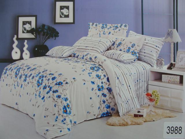 Сатиновое постельное белье евро ELWAY 3988