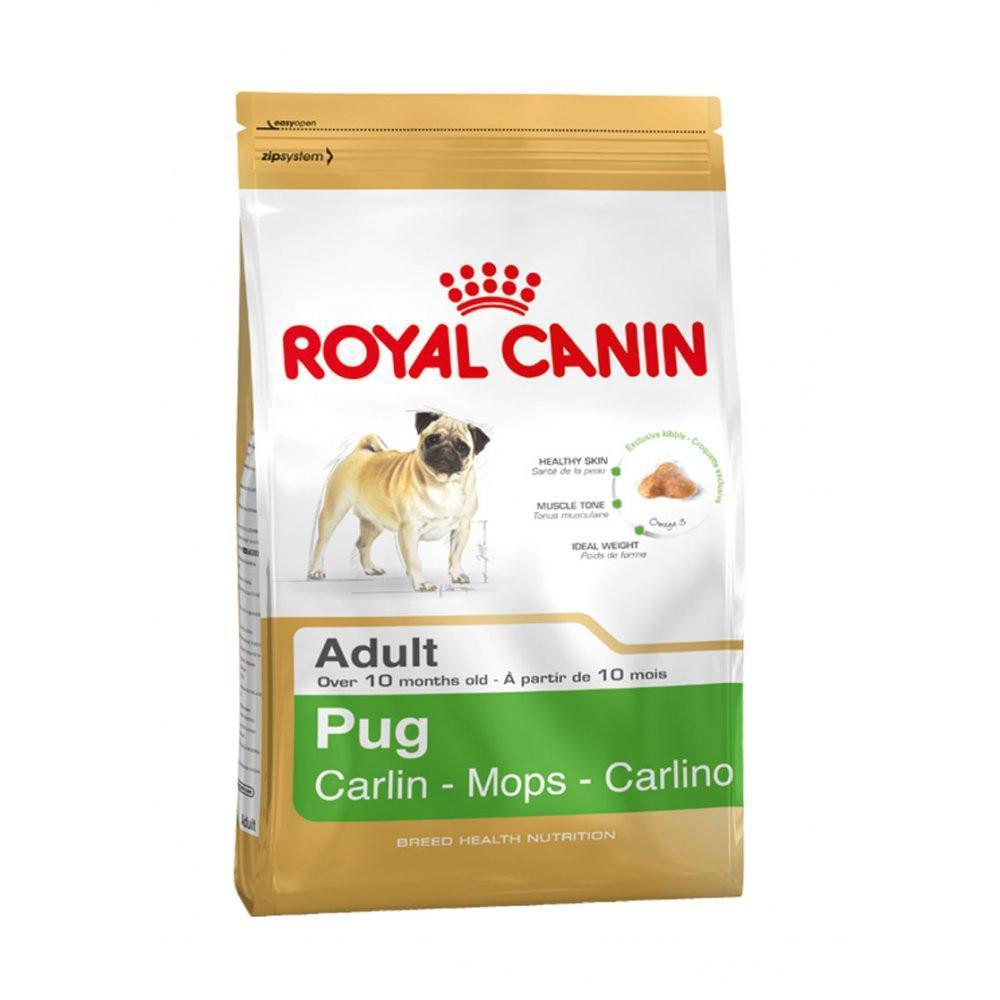 Сухой корм Royal Canin (Роял Канин) PUG ADULT для собак породы мопс в возрасте от 10 месяцев, 3 кг