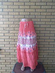 Юбка-сарафан летняя в пол коттоновая большого размера FASHION
