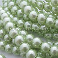 Жемчуг керамический 8 мм салатовый (100-110 шт)
