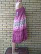 Юбка-сарафан летняя в пол коттоновая большого размера FASHION, фото 4