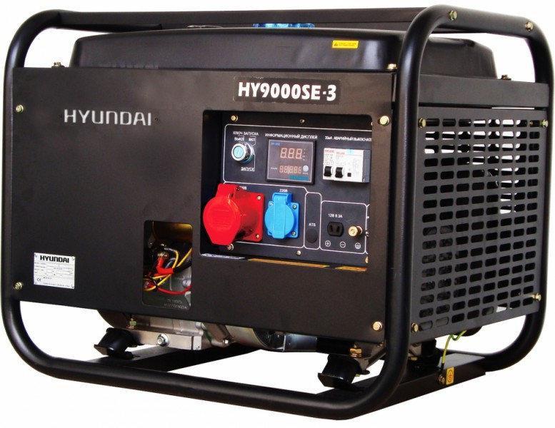 Генератор бензиновый Hyundai Professional HY 9000SE-3 (6,5кВт)