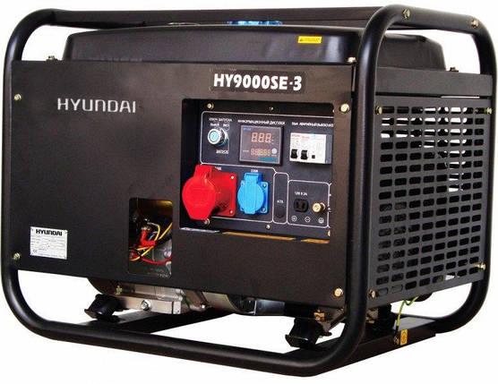Генератор бензиновый Hyundai Professional HY 9000SE-3 (6,5кВт), фото 2