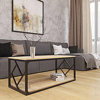 Журнальный столик Металл-Дизайн Ромбо Loft 1100х500х470 мм