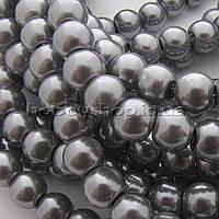 Жемчуг керамический 8 мм серый (100-110 шт)
