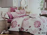 Сатиновое постельное белье евро ELWAY 4035