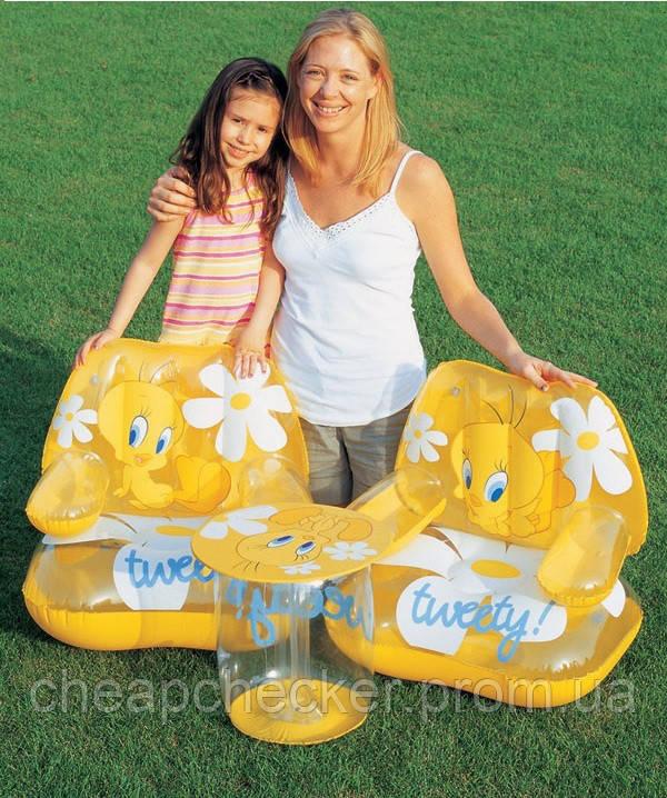 939302bd9dcf ... Пляжный Набор Надувной Мебели для Отдыха Ребенка Стол + 2 Кресла  Tweety, фото 3