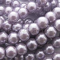 Жемчуг керамический 8 мм сиреневый (100-110 шт)