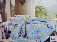 Сатиновое постельное белье евро ELWAY 4038