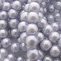 Жемчуг керамический 8 мм сиреневый бледный (100-110 шт)