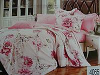 Сатиновое постельное белье евро ELWAY 4065