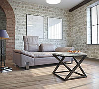 Журнальный столик Бент Loft Металл-Дизайн 600х600х450 мм