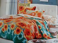 Сатиновое постельное белье евро ELWAY 4134