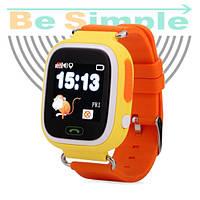 Smart Baby Watch Q100 c GPS трекером / Детские умные часы Оранжевый