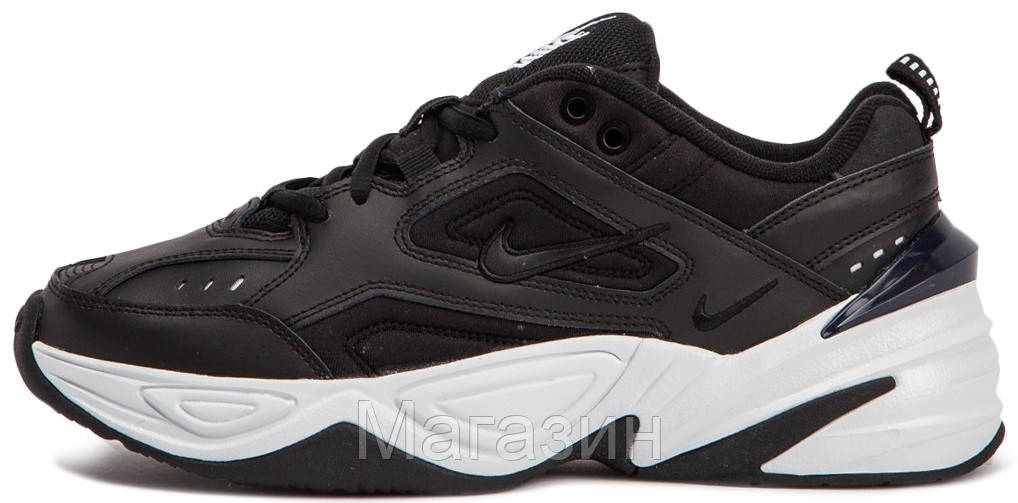 accc7ef432dbf Женские кроссовки Nike M2K Tekno Black/White (в стиле Найк) черные - Магазин