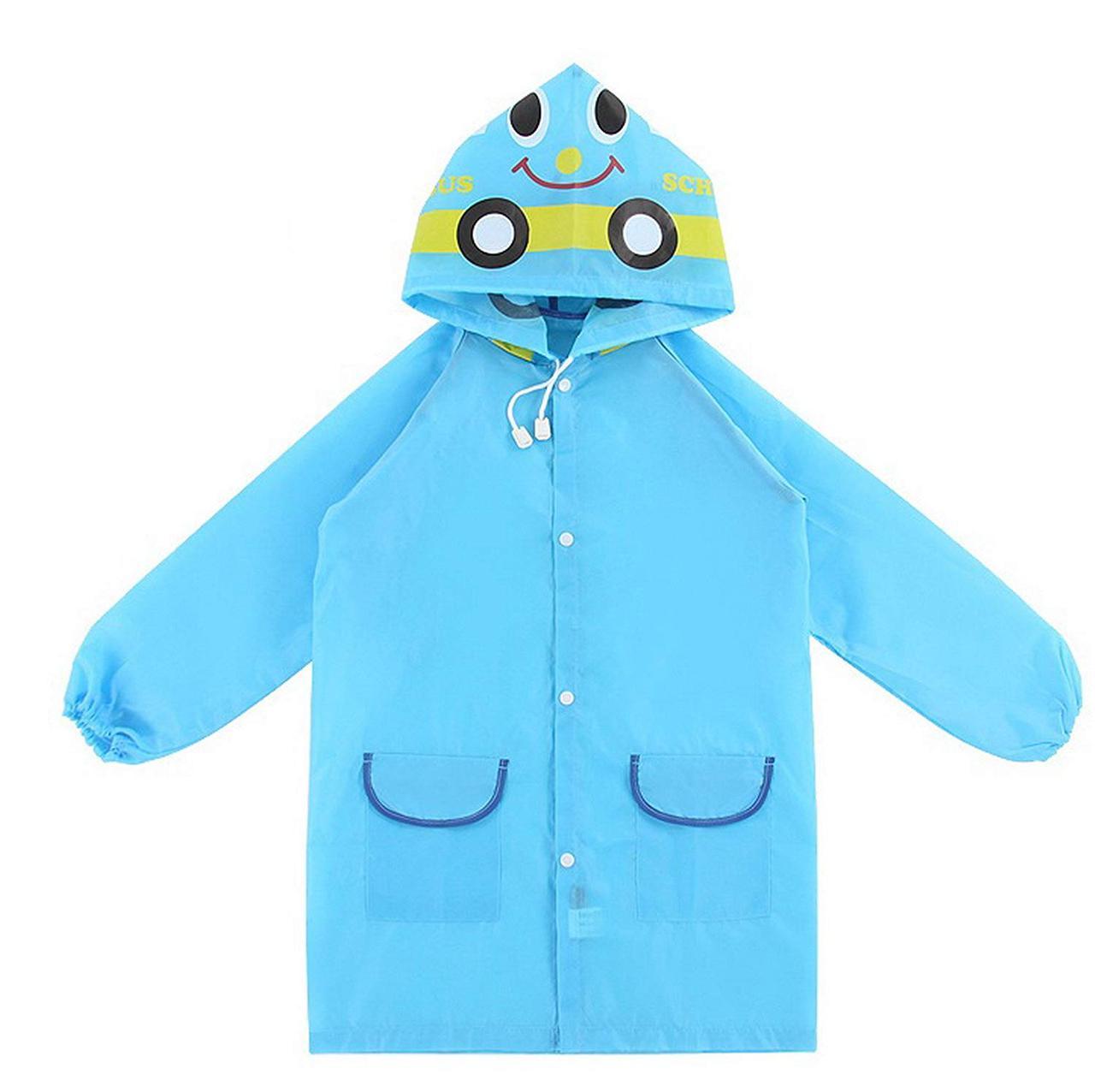 🔝 Детский дождевик, голубая машинка, плащ дождевик | 🎁%🚚
