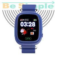 Smart Baby Watch Q100 c GPS трекером / Детские умные часы Синий