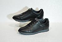Осенние кожаные кроссовки в стиле HILFIGER черные подростковые шнуровые a7a18038fd50d