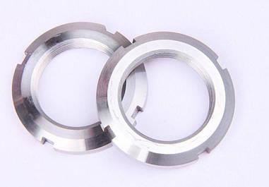 Гайка круглая шлицевая из нержавейки М25х1,5 DIN 981, ГОСТ 11871-88