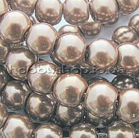 Жемчуг керамический 8 мм бежевый темный (100-110 шт)