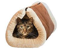 Портативный Мягкий Домик Лежанка для Кота Kitty Shack Tunnel Bed & Mat 2 в 1
