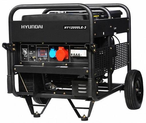Генератор бензиновый Hyundai Professional HY 12000LE-3 (10 кВт), фото 2