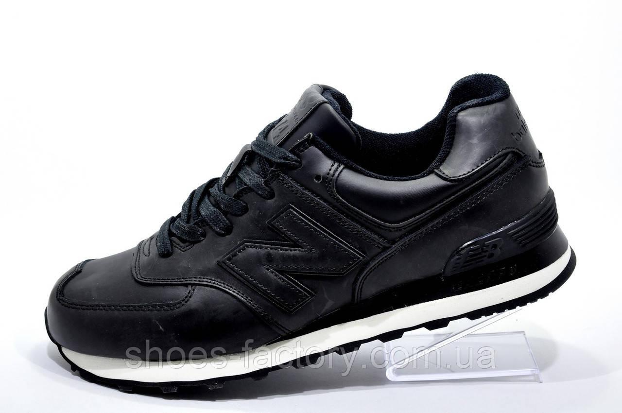 Кожаные кроссовки в стиле New Balance 574 Premium, Black