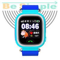 Smart Baby Watch Q100 c GPS трекером / Детские умные часы Голубой
