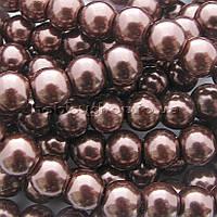 Жемчуг керамический 8 мм шоколадный (100-110 шт)