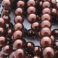 Жемчуг керамический 8 мм коричневый (100-110 шт)