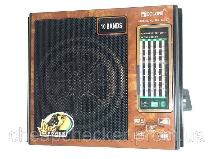Радиоприемник Golon RX-1431 T c Фонариком MP3 USB FM SD