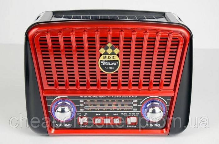 Радиоприемник Golon RX-456 Solar c Фонариком и Солнечной Панелью MP3 USB FM SD