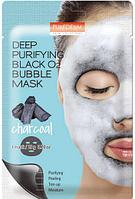 Пузырьковая маска PUREDERM Deep Purifying Black O2 Bubble Mask Charcoal