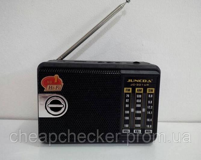 Радиоприемник JC 301 UR с Фонариком MP3 FM USB am