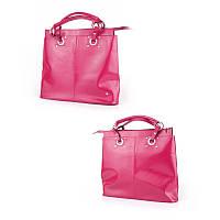 f15499c53620 Объемная женская сумка из итальянской кожи (прямоугольная, с двойными  ручками)