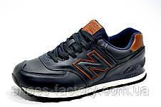 Мужские кроссовки в стиле New Balance 574 Premium, Кожаные, фото 2