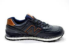 Мужские кроссовки в стиле New Balance 574 Premium, Кожаные, фото 3