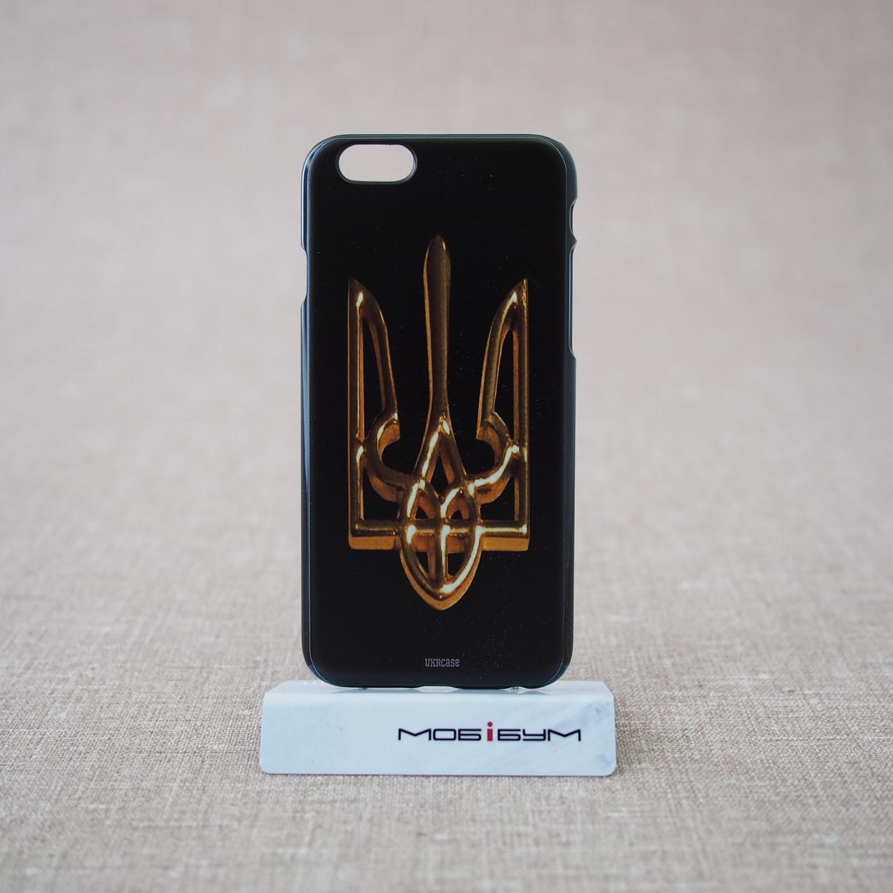 Чехол Ukraine iPhone 6 большой герб Украины gold