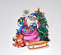 Дед Мороз и Ёлочка. Декоративная наклейка