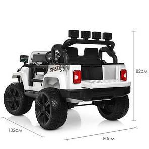 Детский Электромобиль Bambi ДЖИП Jeep Wrangler White (M 3824 EBLR 1), фото 2