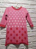 """Платье розовое в горошек для девочки """"Горошки"""" размер 86"""