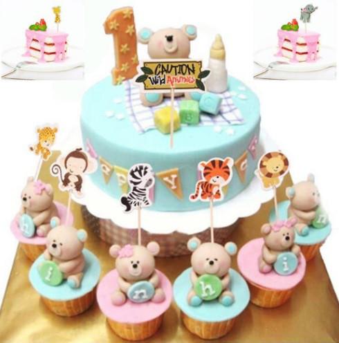 Шпажки детские для торта, для кексов - 8шт.