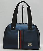 Женская спортивная сумка Adidas саквояж малый темно-синий, фото 1