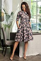 Платье с цветочным принтом / аногра софт / Украина 34-455, фото 1
