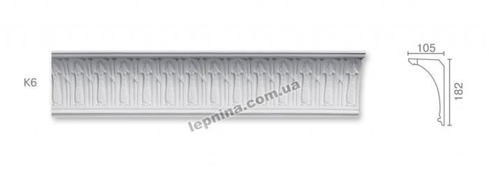 Потолочный карниз К-6 из бетона
